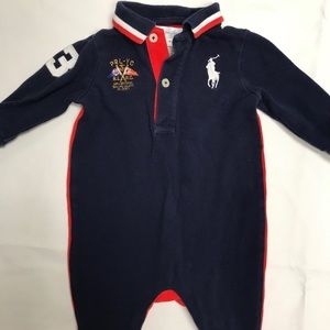 Polo infant one piece